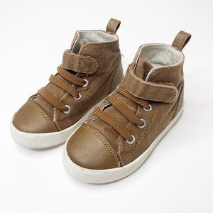 Gymboree Brown Canvas High Top Sneakers